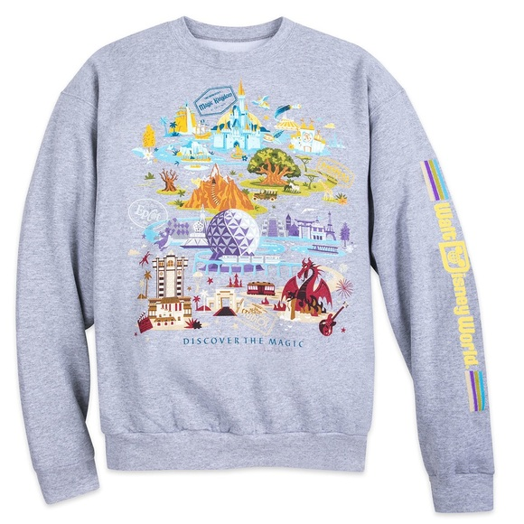Disney Walt Disney World Compass Map Sweatshirt